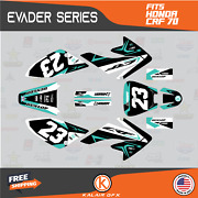 Graphics Kit For Honda Crf70 All Years Crf 70 Crf-70 Evader- Teal