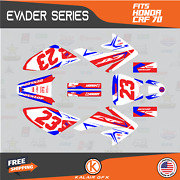 Graphics Kit For Honda Crf70 All Years Crf 70 Crf-70 Evader- Red Blue