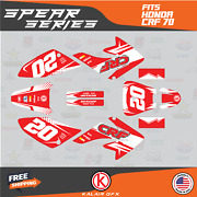 Graphics Kit For Honda Crf70 All Years Crf 70 Crf-70 Spear- Red White
