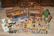 450+ Pieces Lot Playmobil Indians Cowboys Fort Horses Accessories Weapons People