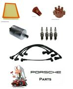 Porsche 944 924s Tune Up Kit Distributor Cap,rotor,wires,plugs,air Fuel Filter