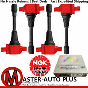 Racing Engine Ignition Coil And Ngk Laser Iridium Spark Plug For Nissan 2.5l L4