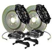 For Chevy Camaro 10-15 Gt Series Cross Drilled 1-piece Rotor Rear Big Brake Kit