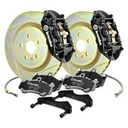 For Chevy Camaro 10-15 Brembo Gt Series Slotted 1-piece Rotor Rear Big Brake Kit