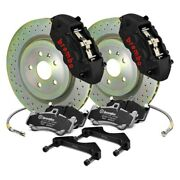 For Chevy Camaro 16-19 Big Brake Kit Gt-s Series Cross Drilled 1-piece Rotor