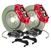 For Chevy Camaro 16-19 Gt Series Cross Drilled 1-piece Rotor Rear Big Brake Kit