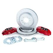 For Ford F-150 10-14 Off Road C-hook Slotted 1-piece Heavy Duty Rear Brake Kit