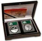 2020 2x1 Oz Silver Mexican Libertad Proof N Reverse Proof Pf70dcam Fs Coins Set.
