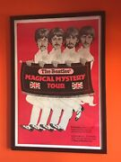 Beatles Magical Mystery Tour Re-release Movie Poster, 1974 Rare In Red