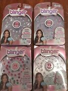 New Lot Of 4 Blinger Sparkle Collection Refill Packs - Adhesive Gems Free Ship