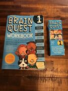 Lot Of 2 Brain Quest Workbook And Flash Cards Grade 1 - Paperback Preowned