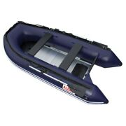 Aleko Inflatable Dinghy Fishing Boat With Aluminum Floor 6 Prs 12.5 Ft Blue