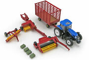 New Holland T7.270 Tractor And Harvesting Set - 1/64