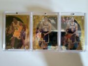 1998-99 Topps Finest Mystery Kobe Bryant 3 Card Lot. Iverson Shaq And Duncan.