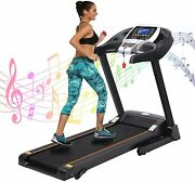 Ancheer Electric Treadmill Incline Heavy Duty Fold Home Jogging Running Machine
