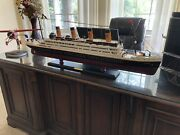 Rms Titanic Wooden Model, 40 Inches, Ultimate Gift Nautical, Sunken Boat