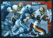 Stephen Holland John Riggins 2x Hand Signed Football Wash.redskins The Rivalry