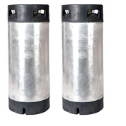 2 Pk 5 Gallon Pin Lock Kegs Reconditioned - Homebrew Beer And Coffee - O-ring Kit
