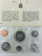 1964 Canadian 6 Coin Set. 80 Silver