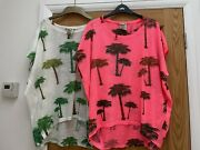 Palm Tree Embellished Tshirts Andpound49 Each/small Selling As A Pair For Andpound30