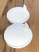 2 Tupperware White Sippy Cup Dome Lids 2549a Kids Drink