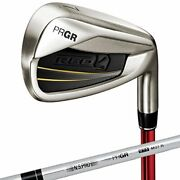 Prgr Pro Gear Red 16red Titan Face Iron M37st 5 Set 6-p Red Count 7