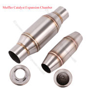 1pc Exhaust Pipe Motorcycle Exhaust Muffler Catalyst Db Killer Expansion Chamber