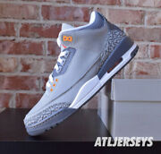 2021 Nike Air Jordan 3 Retro Cool Grey Ct8532-012 Size