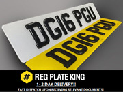 Pair Of Road Legal Front And Rear 4d Gel Laser Cut With 3d Gel Top Number Plates