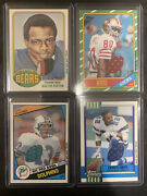 2001 Topps W Payton, E Smith, D Marino And J Rice Game Used Jersey Patch Hof Lot