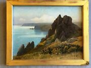 F W Baker1862-1936 'valley Of The Rocks', Lynmouth Signed Antique Oil Painting
