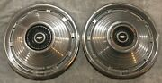 Two 1967 Chevrolet Chevy Ii 14 Chrome Hubcaps