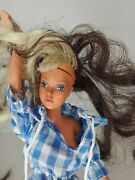 Vtg Tuesday Taylor Doll Rotating Scalp Color Changing Hair Ideal 1975