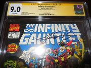 Marvel The Infinity Gauntlet 3 Cgc Ss 9.0 By Signed By George Perez