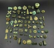 Lot Of Antique Bronze Belt Cloths Jewelry Ornaments From Ancient Greek's Times