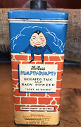 Vintage Humpty Dumpty Advertising Baby Powder Tin Furst And Mcness Co.
