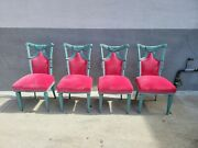 Hollywood Regency Swag And Tassel Dining Chairs - Set Of 4