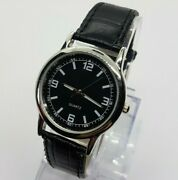 Black Dial Mens And Womens Quartz Watch Simple Affordable Vintage Black Watches