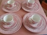 English Ironstone Tableware Vintage Cottage England 16 Pieces Plates Cups