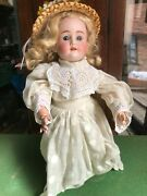 Antique Kley And Hahn 250 0.1/2 Walking 13 Girl Doll Vintage Clothes