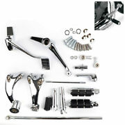 Forward Controls Kit Pegs Levers Linkage For Sportster 883 1200 14-18 Ch Ua