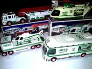 Hess Fire Truck Helicopter Motorcycle Rv Car Collectibles - Lot Of 4 Obo