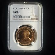 1978 Gold South Africa Krugerrand 1 Oz Coin Ngc Mint State 68