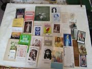Lot Antique Vintage Holy Prayer Booklets And Prayer Cards 36 Pc