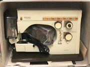 Husqvarna Viking 6430 Sewing Machine Made In Sweden For Parts Or Repair W/extras