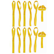 Soft Loop Tie Down Strap Yellow 12pcs For Towing Cargo Atv Motorcycle Snowmobile