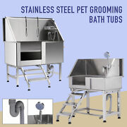 34'' 50 Pet Dog Grooming Bath Tub Electric Lifting Station Professional Shower