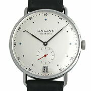 Nomos Metro 38 Date Mt1b4w2 1102 Watch New Menand039s Manual White Transparent Back