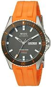 Mido Watches Oceanstar M0264304706100 Menand039s Orange Automatic Made In Switzerland