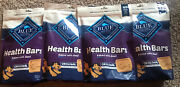Dog Treats Blue Buffalo Health Bars Natural Crunchy Biscuits Beef 16-oz Lot Of 4